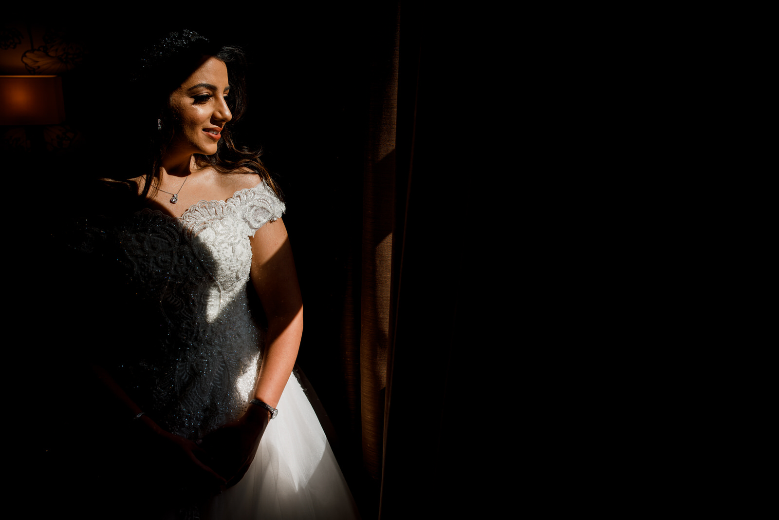 bride in window light at sopwell house