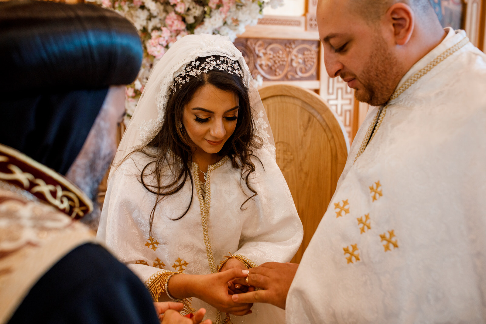 egyptian wedding exchanging of rings
