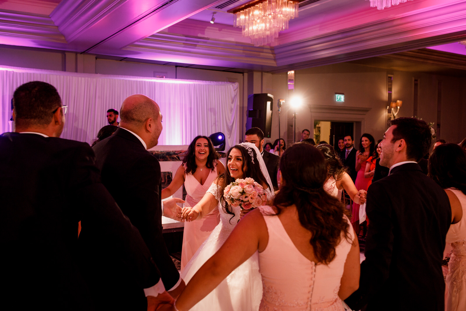 bride and groom being announced at egyptian wedding
