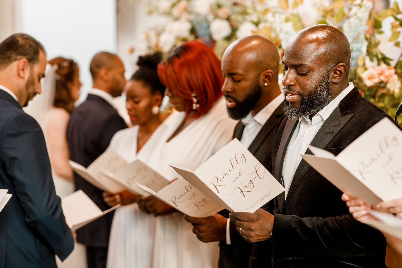 gospel choir at wedding