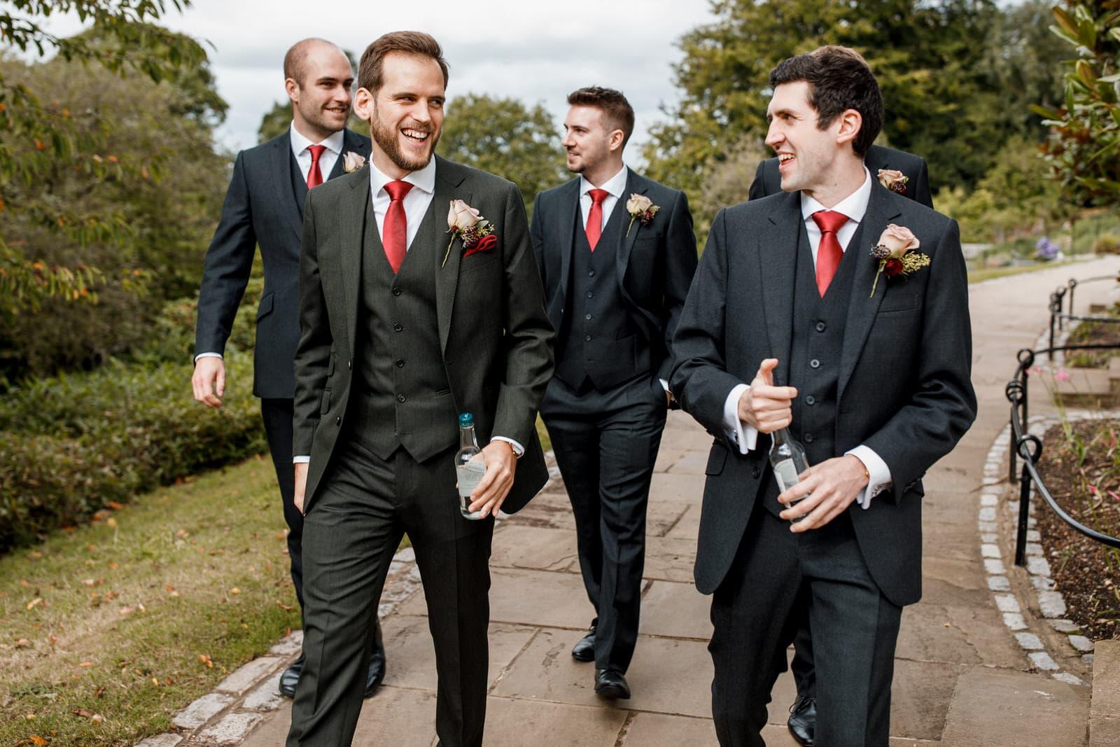 groom arriving at Pembroke lodge wedding