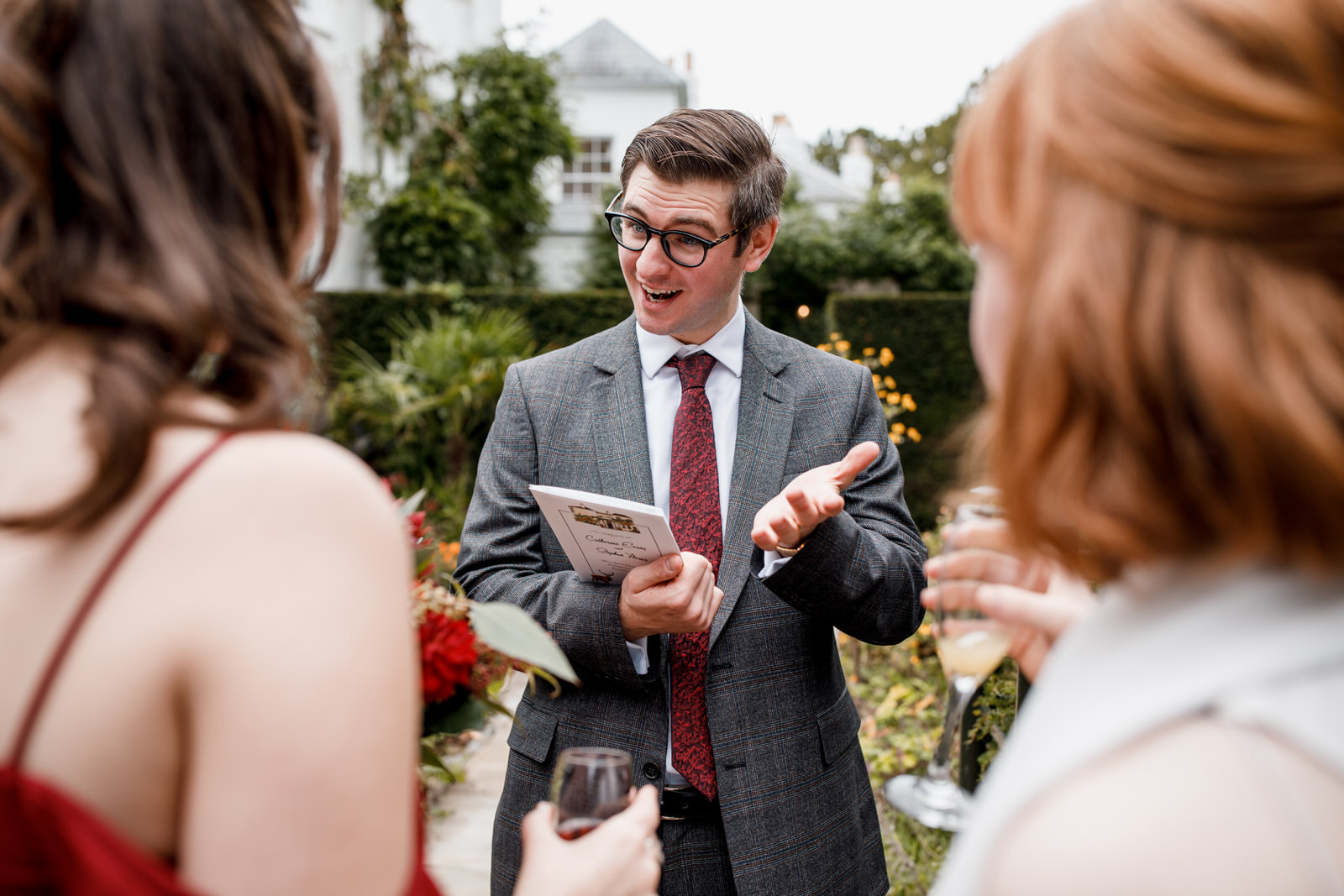 guest enjoying pembroke lodge wedding