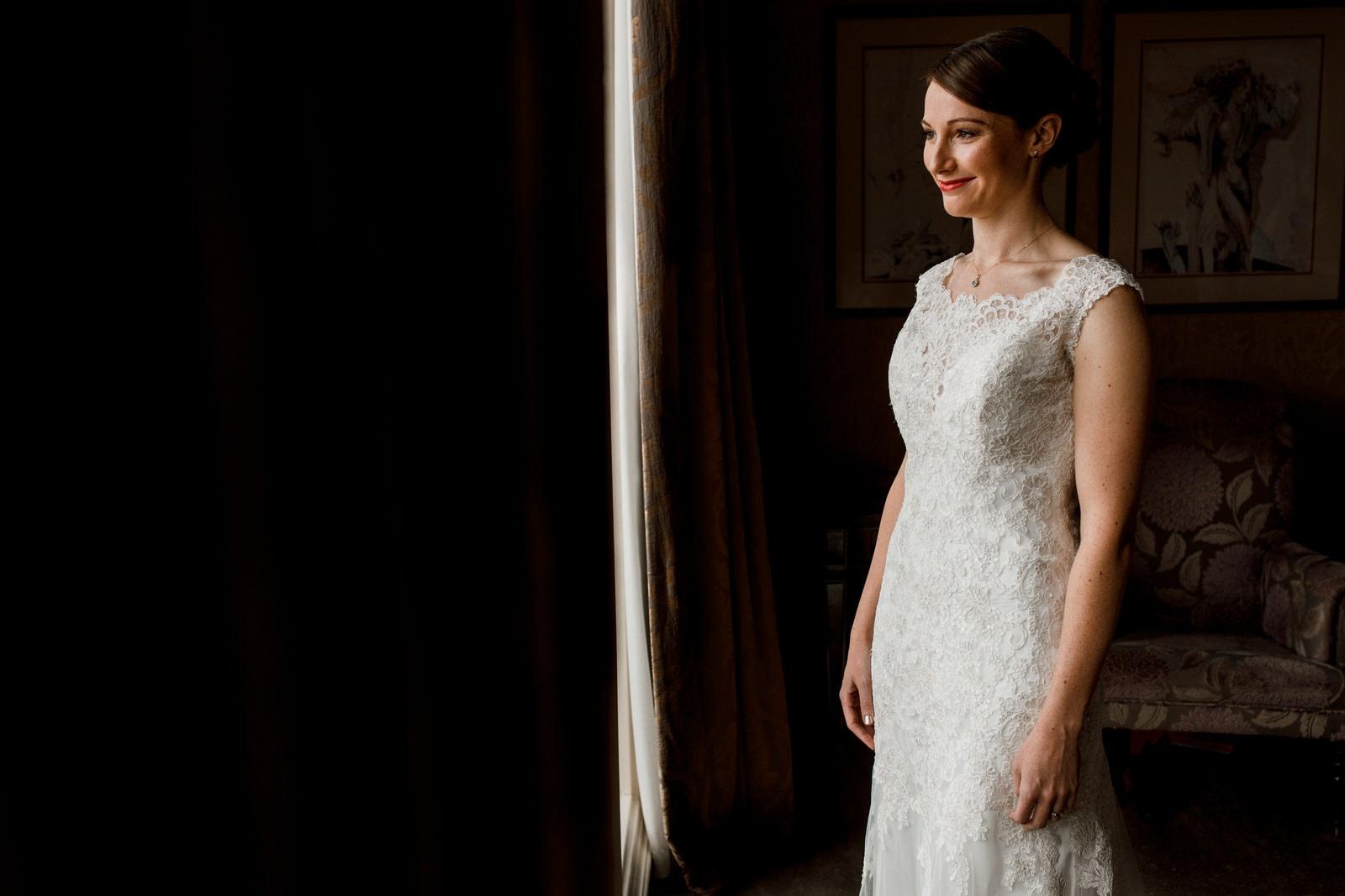 bridal portrait at petersham hotel richmond