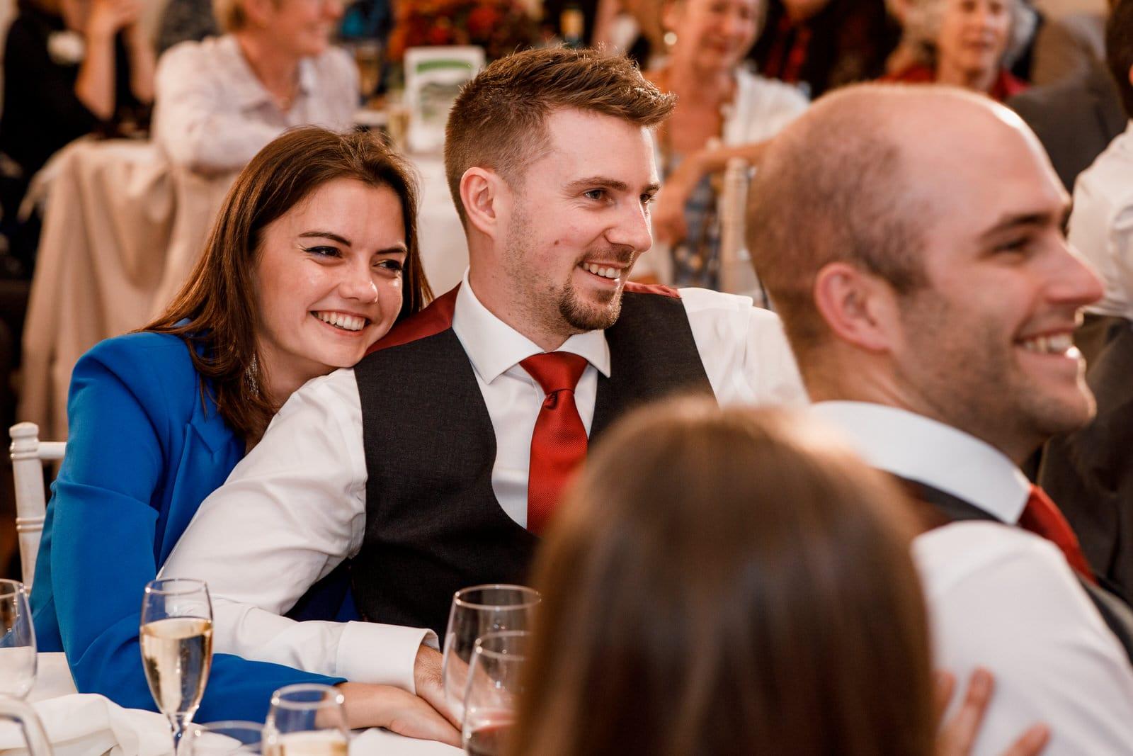 wedding speeches at Pembroke Lodge wedding
