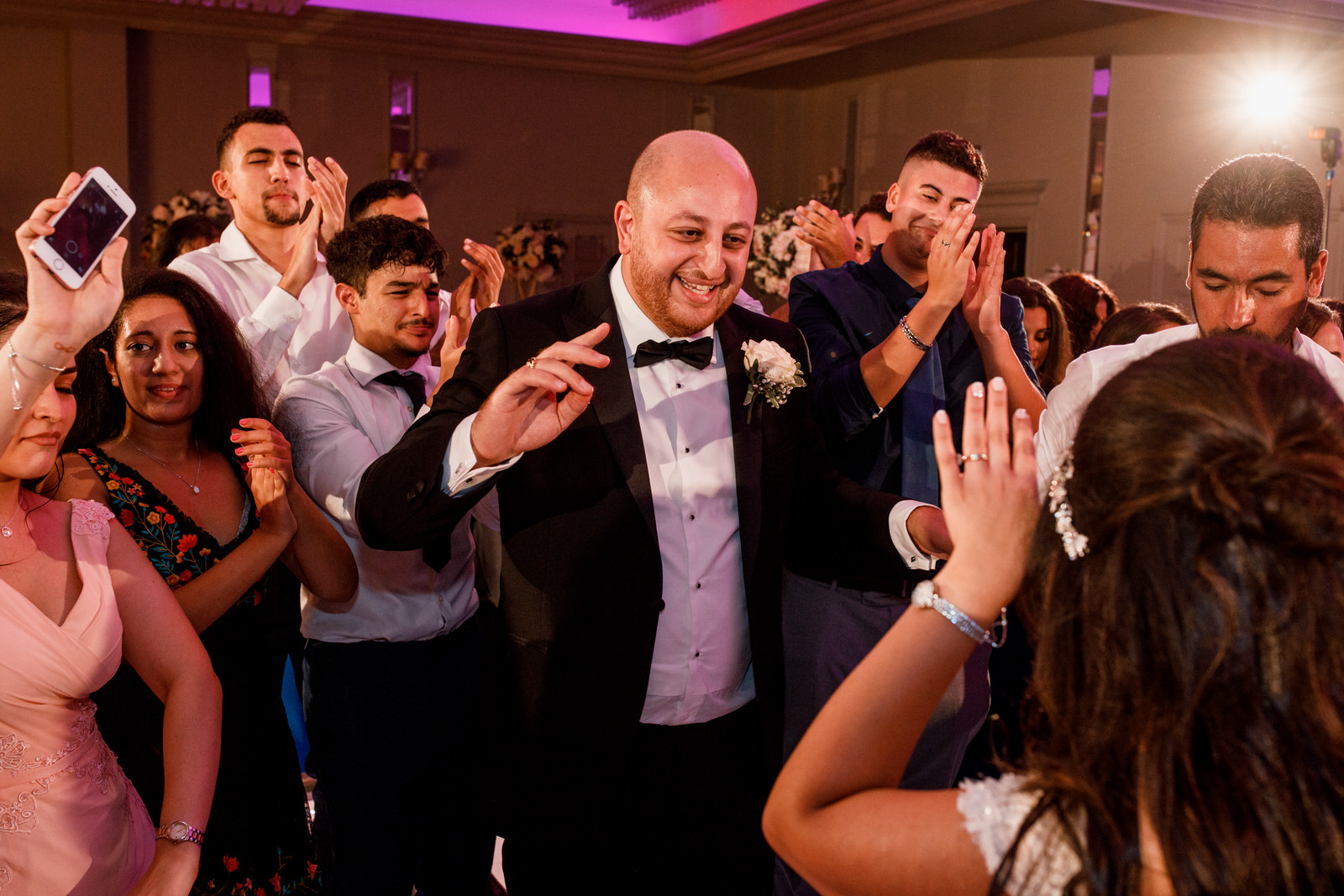 groom dancing at sopwell house wedding