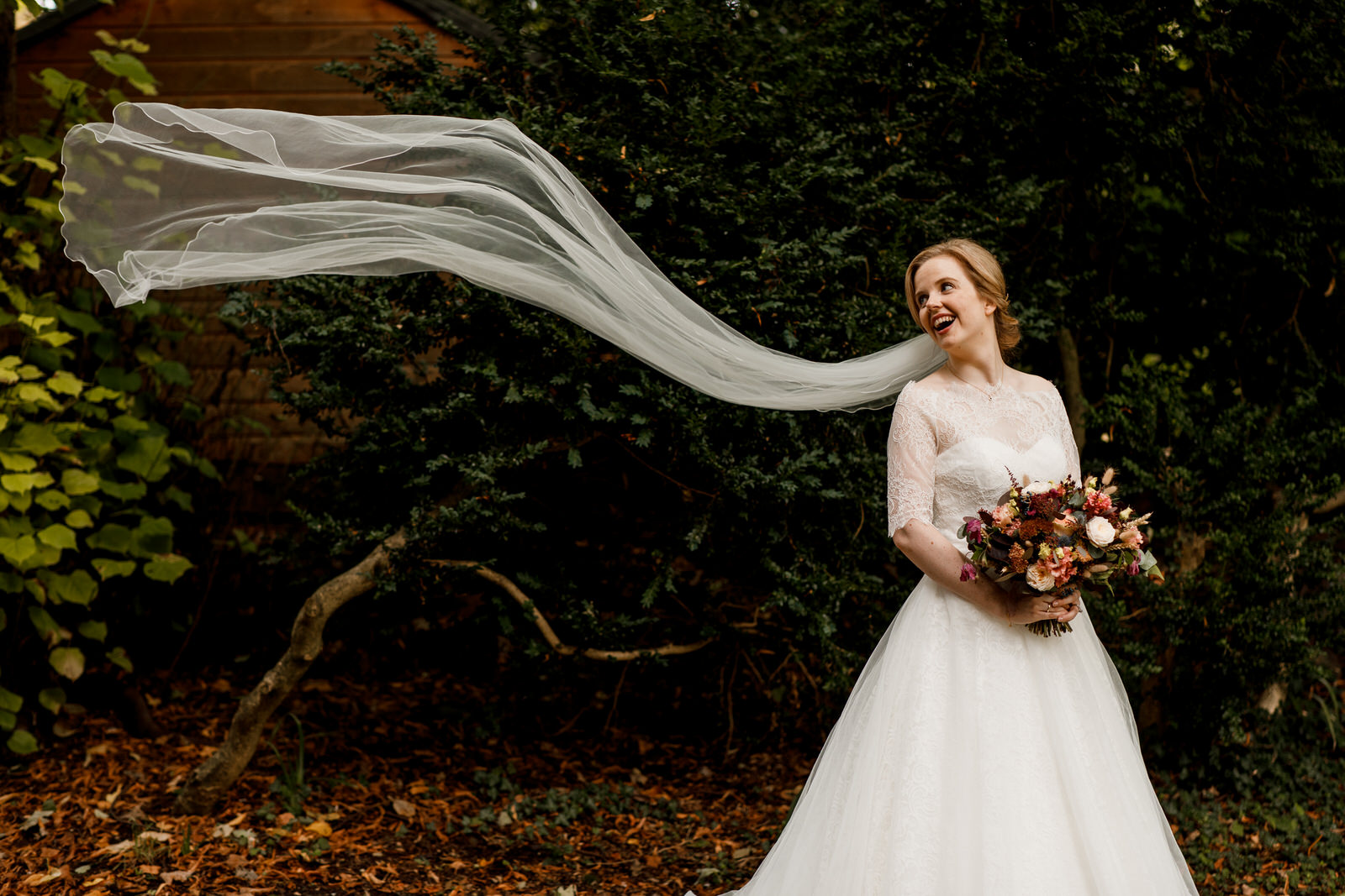 bridal portrait at henley wedding