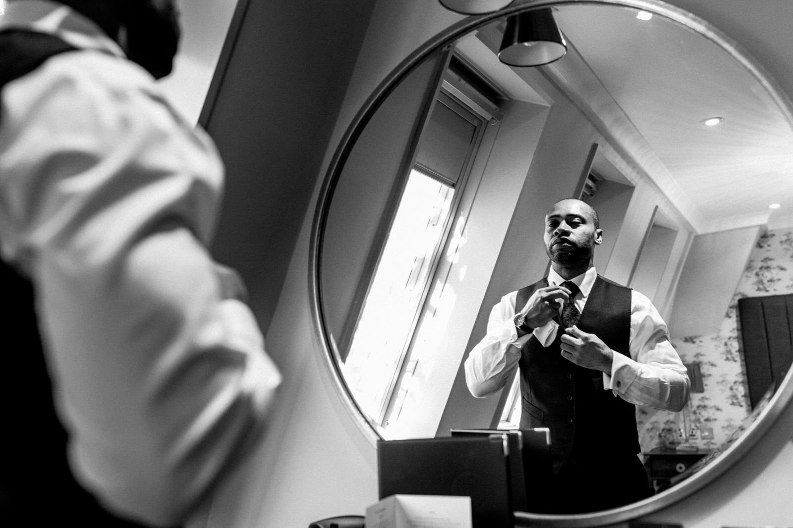 groom preparation at burnham beeches hotel