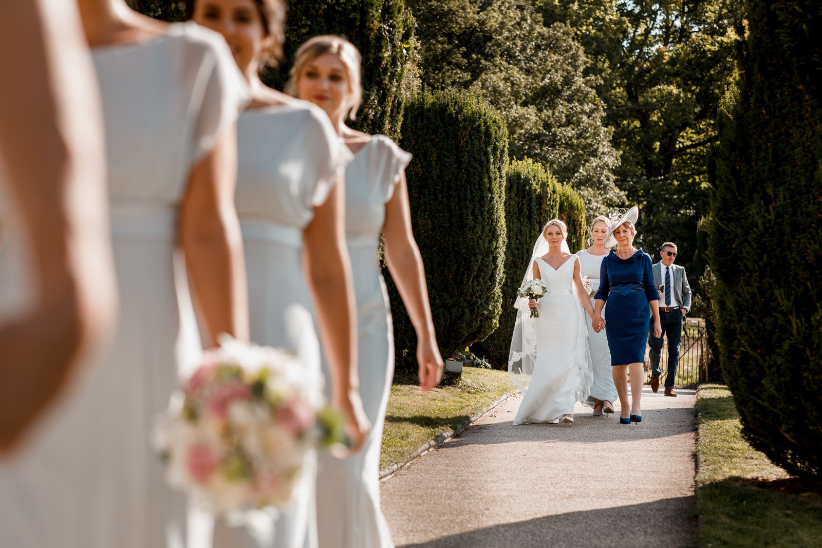 bride arriving at st nicholas church in hedsor house