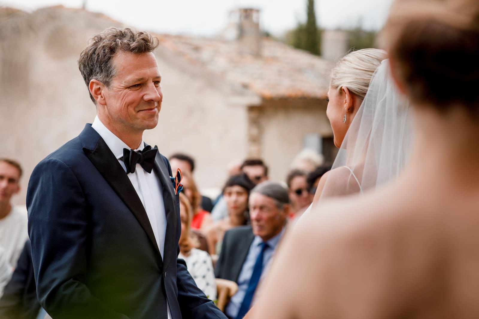 groom at gordes wedding