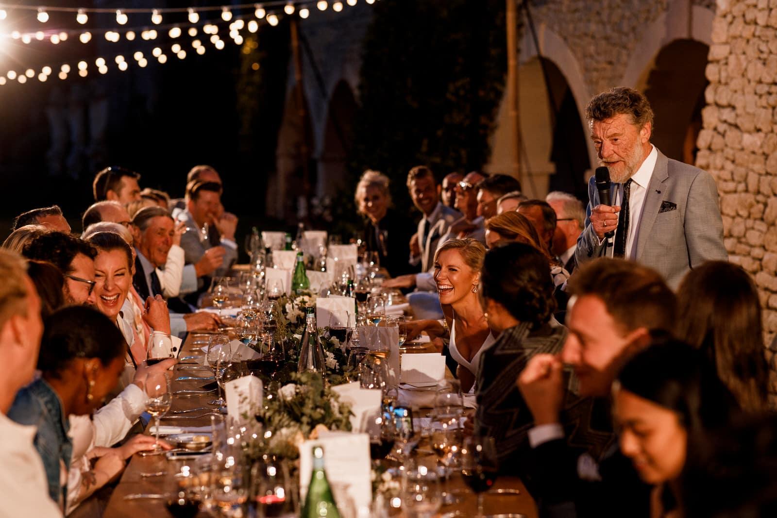 wedding speeches at bastide de gordes wedding