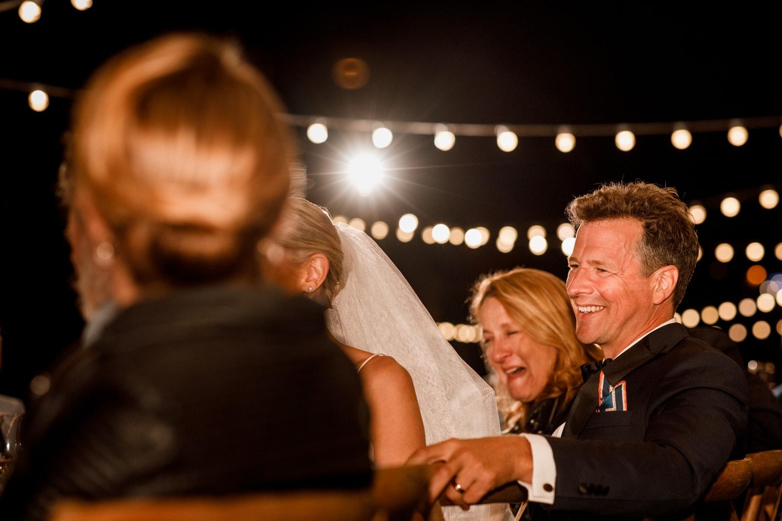 wedding speeches at airelles wedding