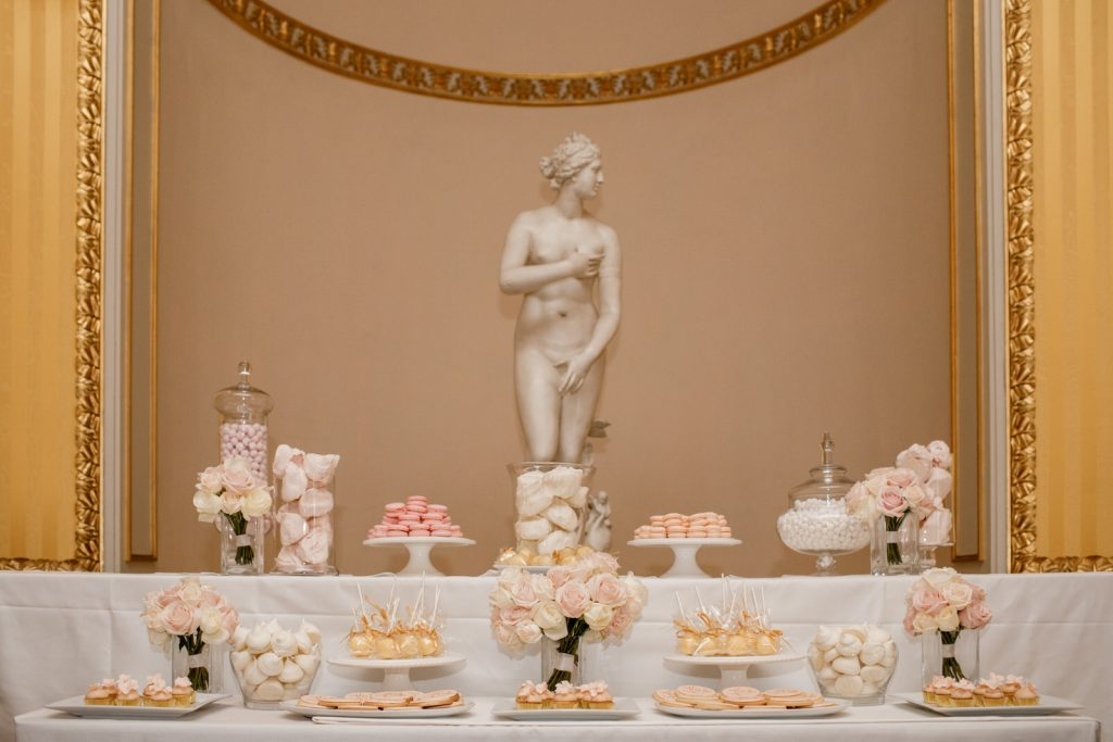 wedding cake at goodwood house