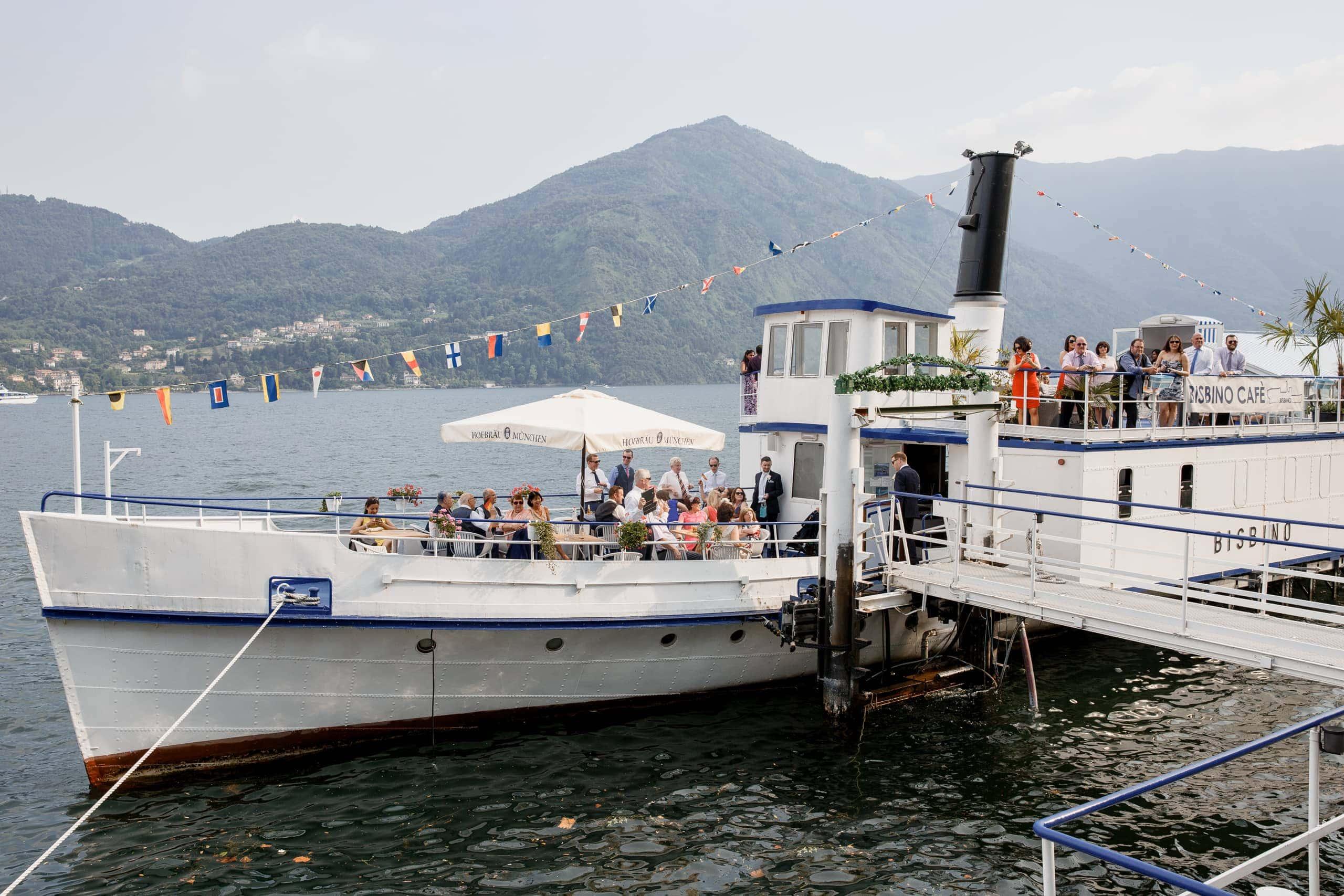 boat trip at lake como wedding