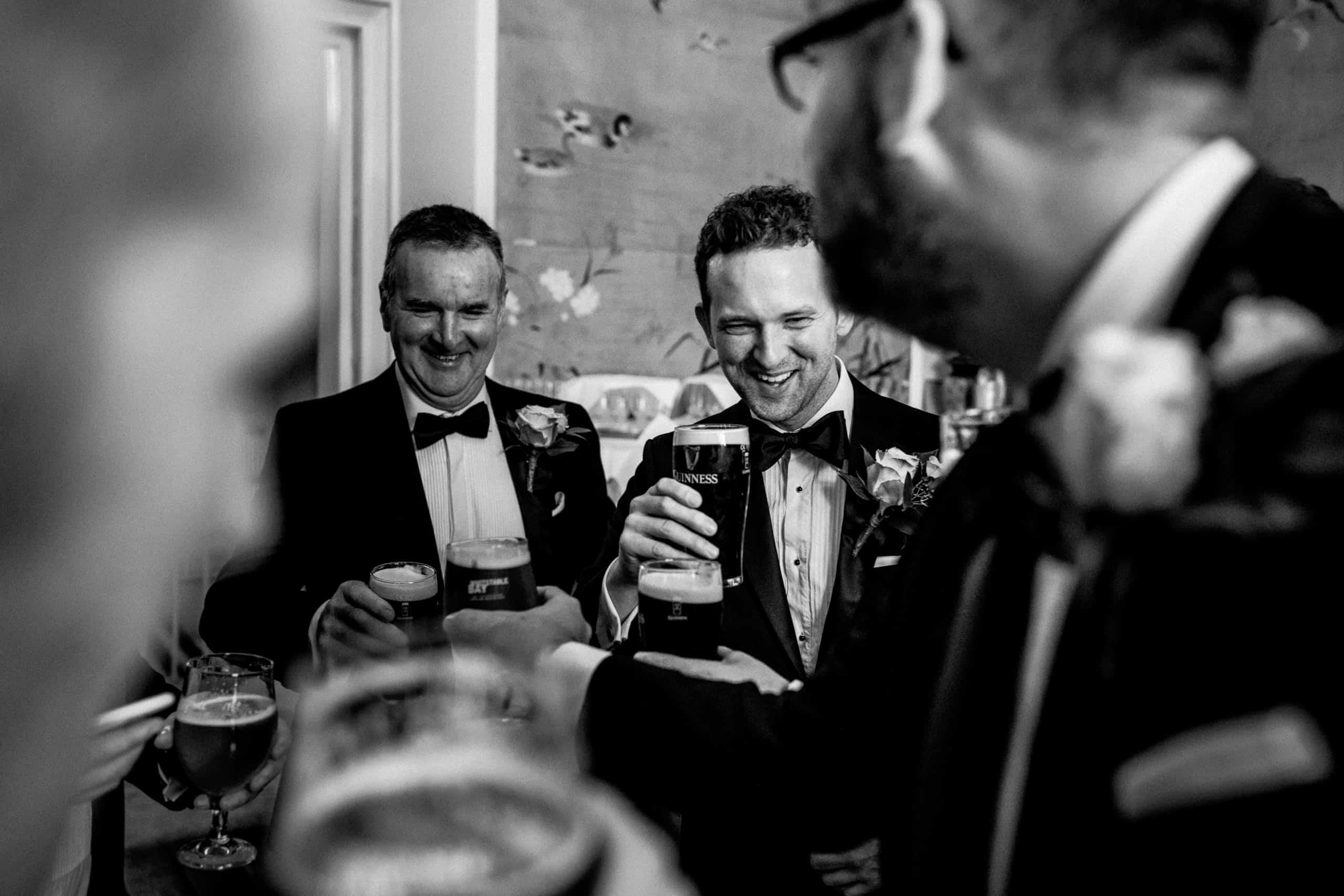 groom prep at offley place wedding venue