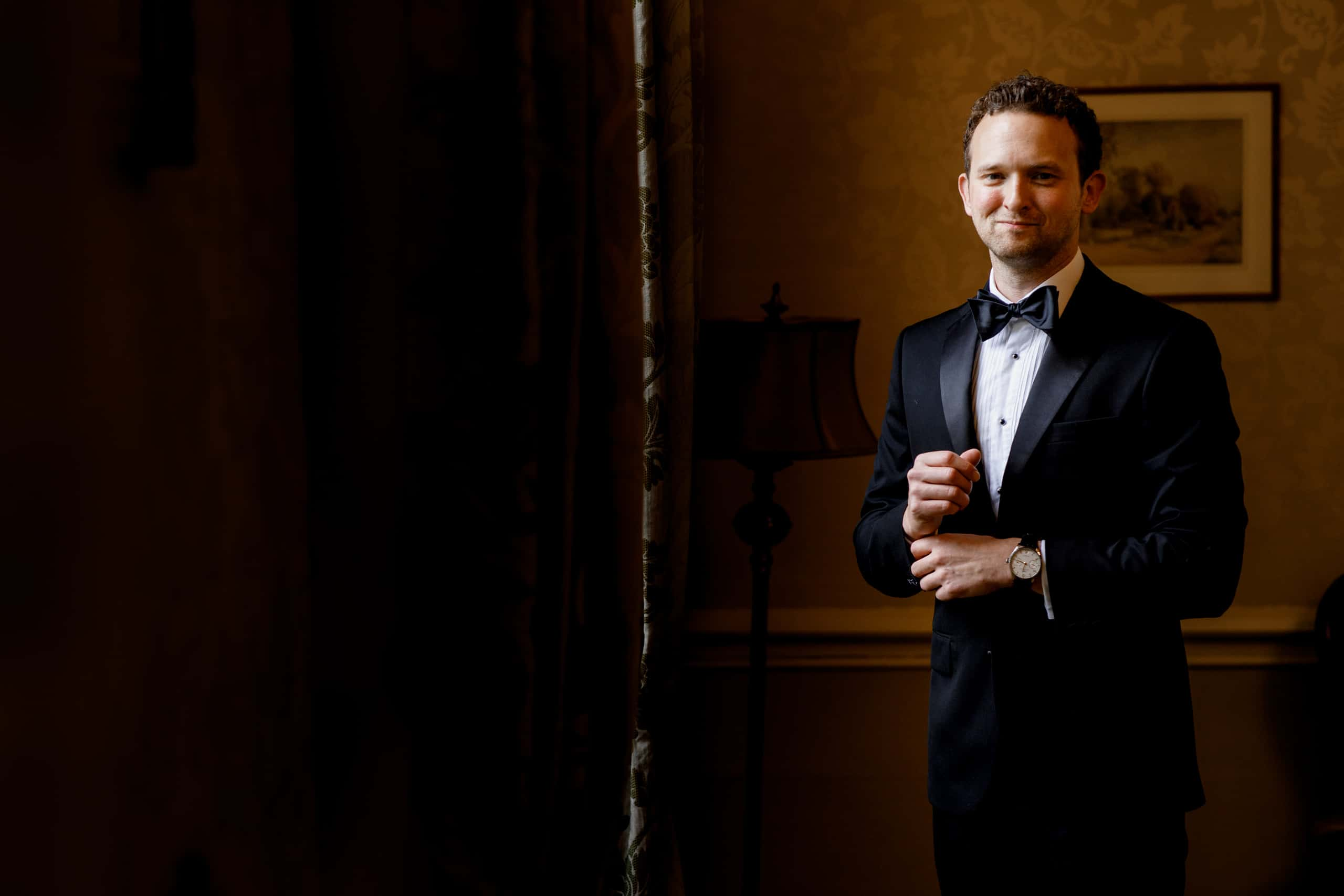 groom portrait at offley place