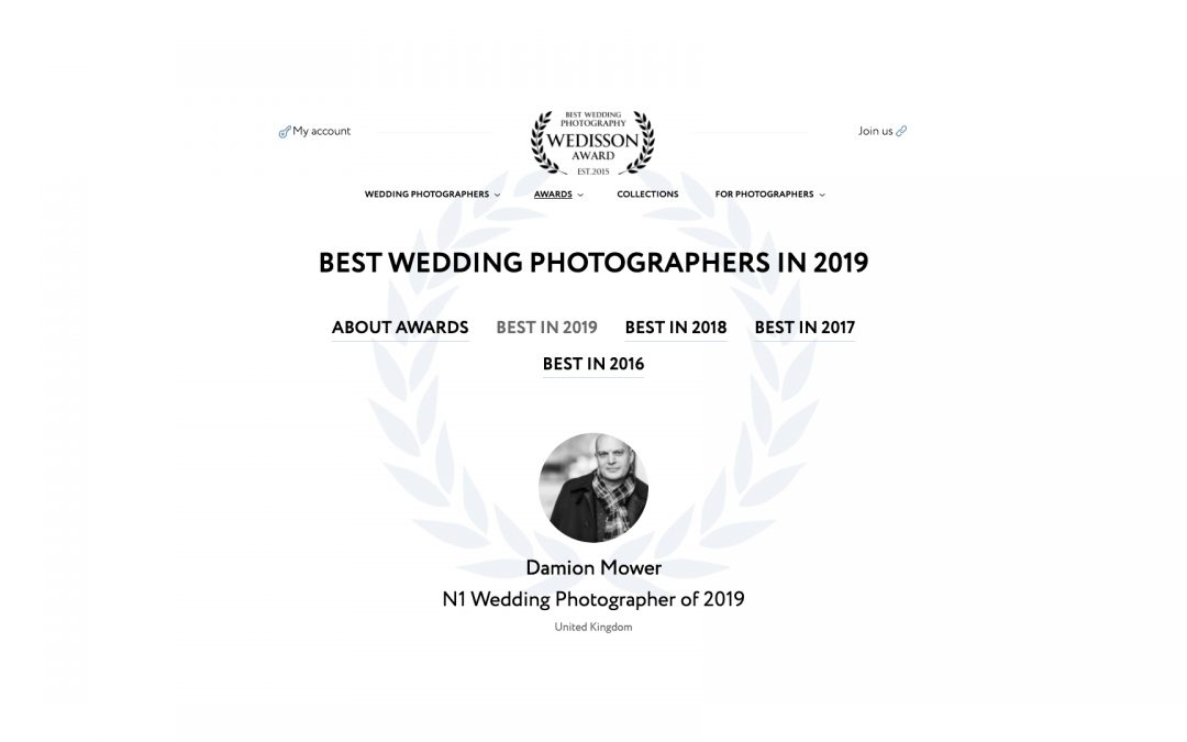 Best Wedding Photographer of the Year 2019 – Wedisson Award