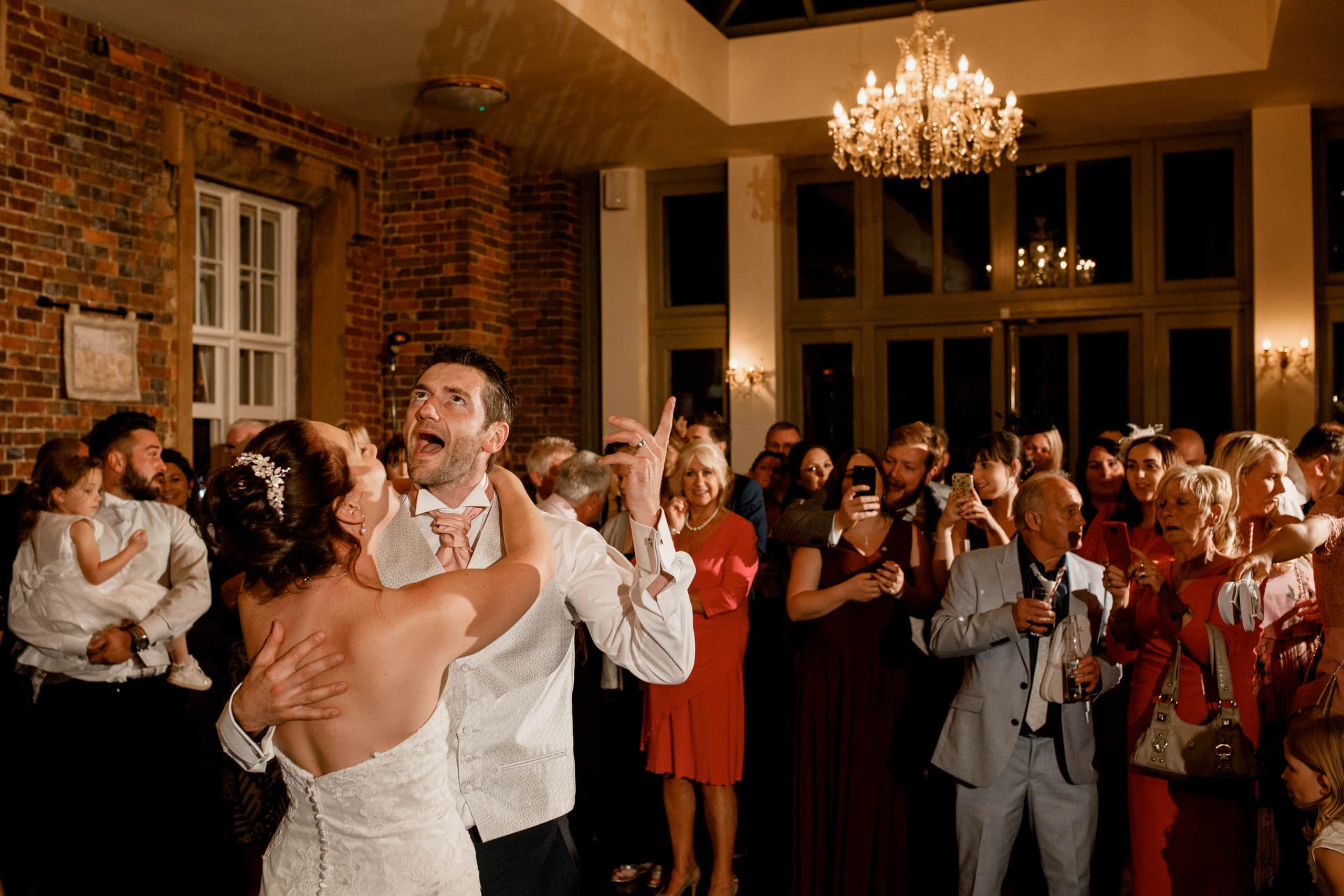 dancing at offley place wedding