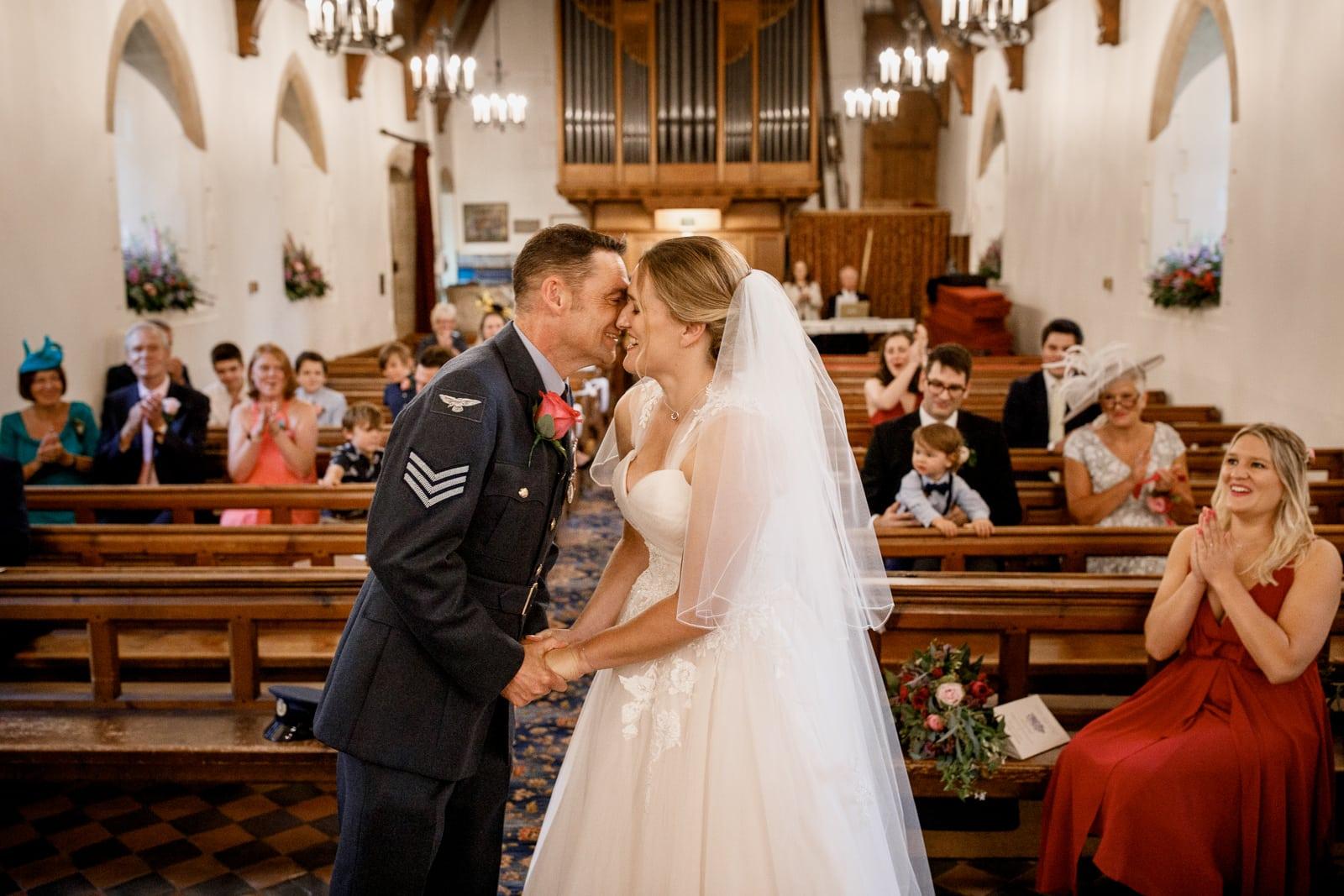 first kiss at all saints church near amersham