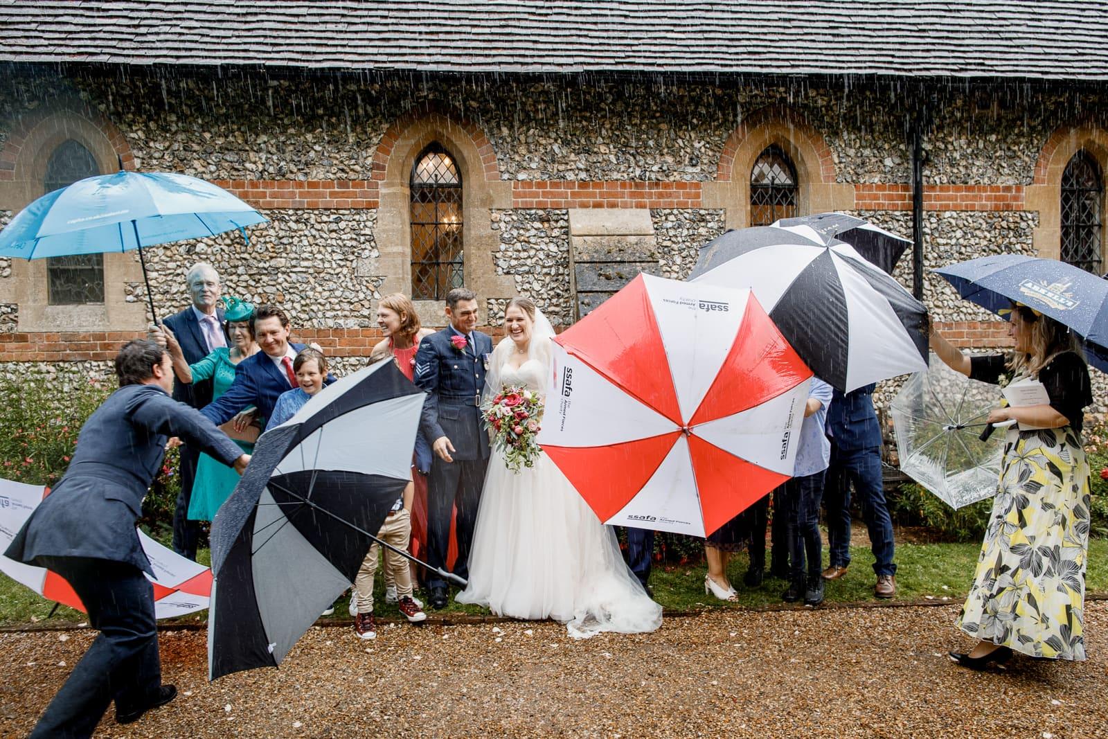 wet wedding day