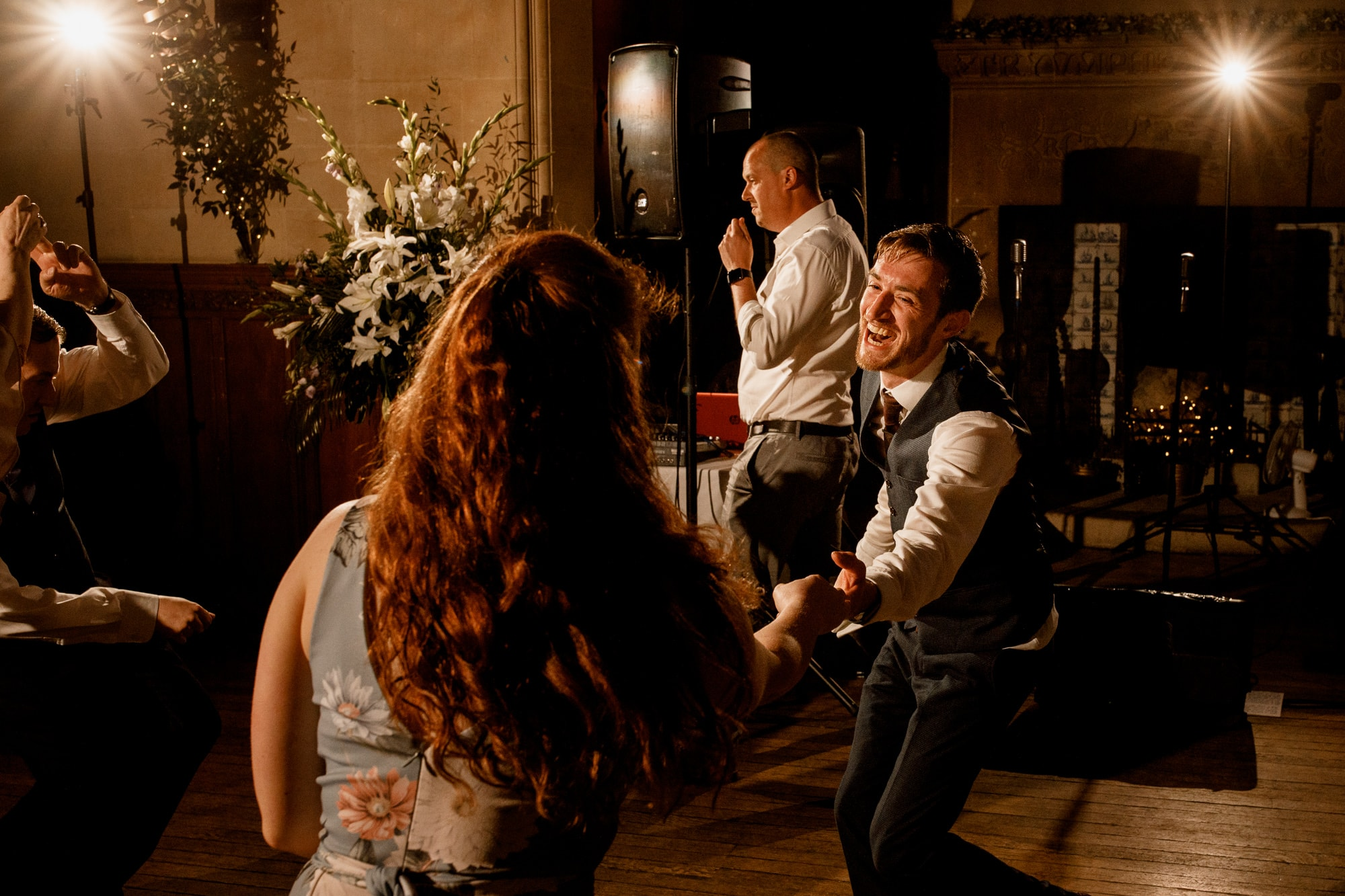 wedding dance floor at fanhams hall
