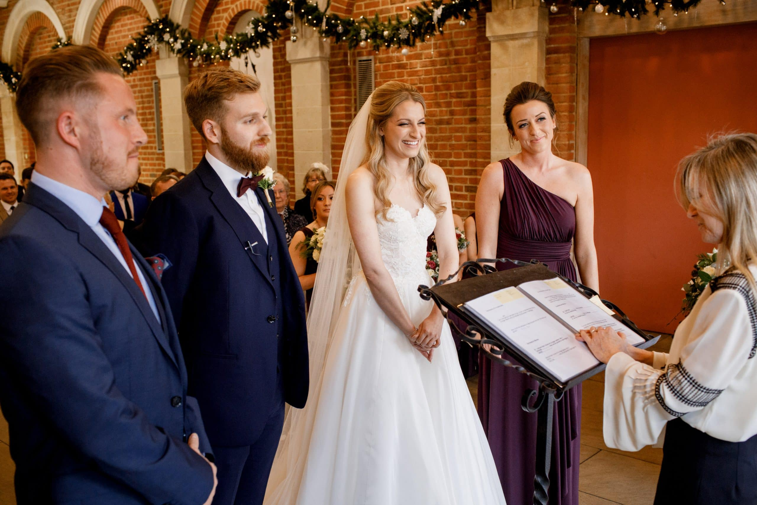 winter wedding at great fosters