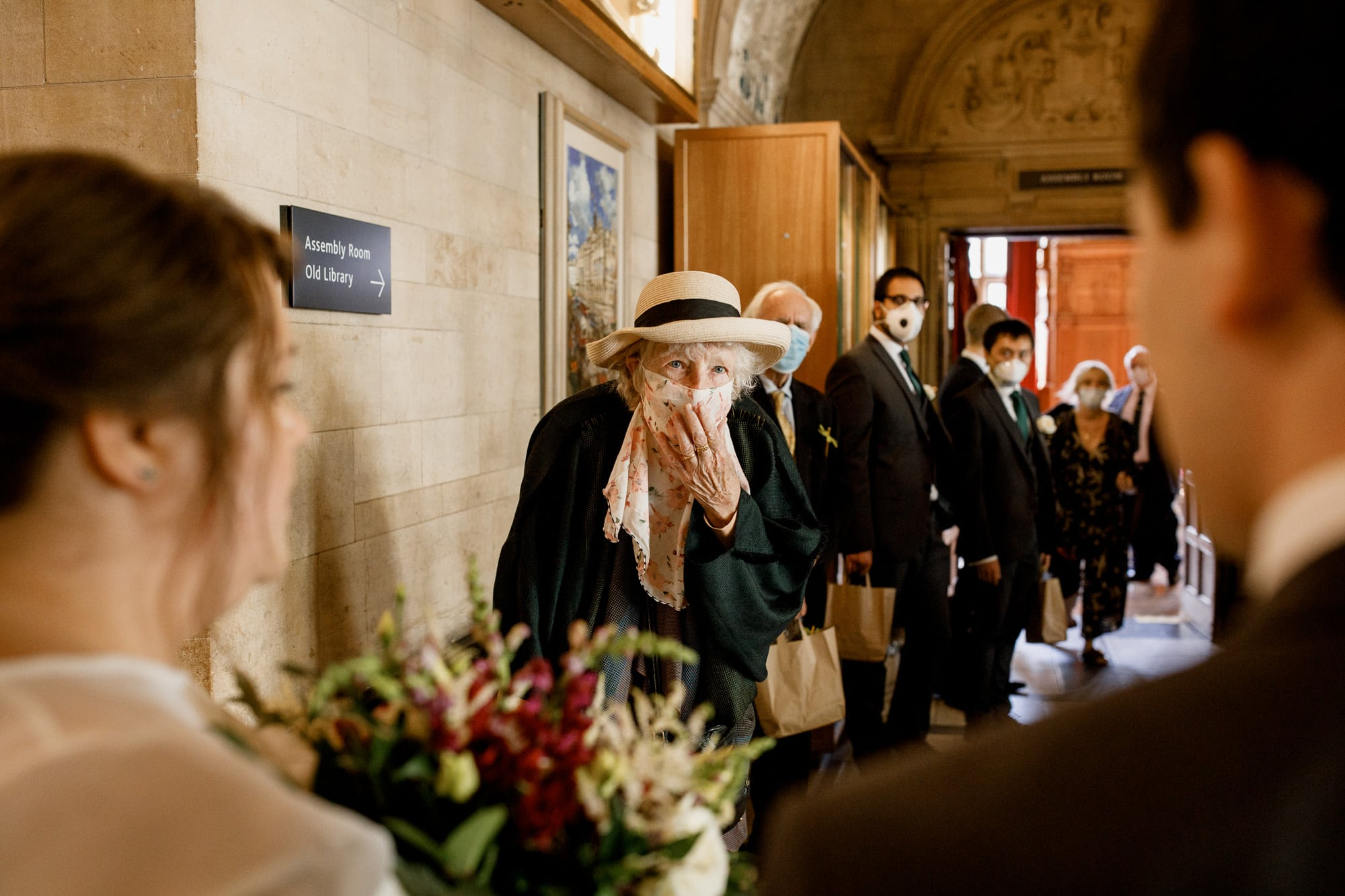 covid wedding with masks