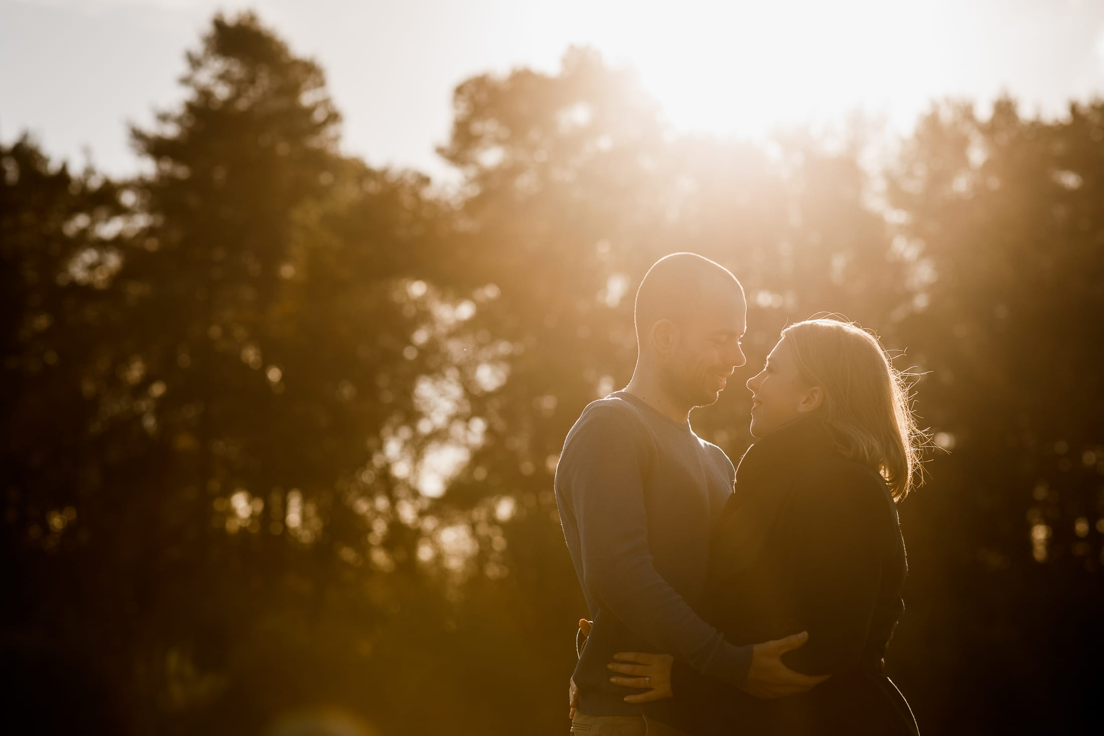 couple in winter sun