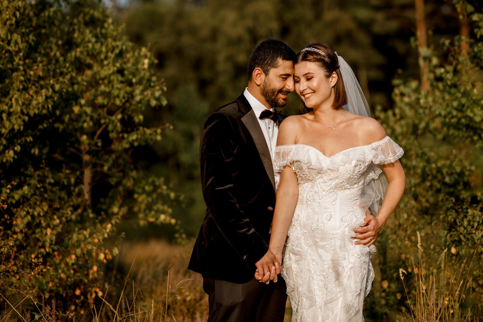 wedding portraits at Burnham Beeches